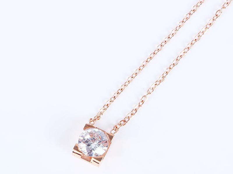 钛钢水钻项链
