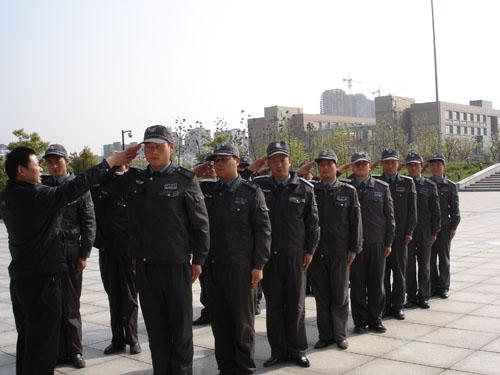 东莞保安公司日常操练