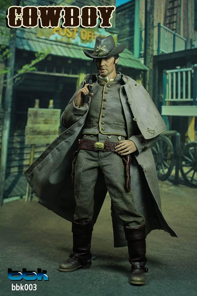 BBK 1\/6兵人西部牛仔 疤面人