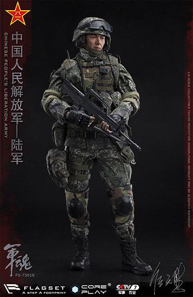 FLAGSET 73019 1/6兵人模型 中国人民 军魂系列 陆军机枪手