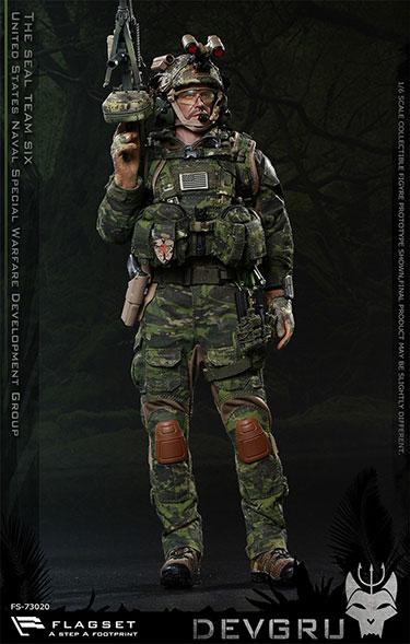 1/6兵人模型  FLAGSET 73020 美国海豹6队 DEVGRU 丛林斩首行动