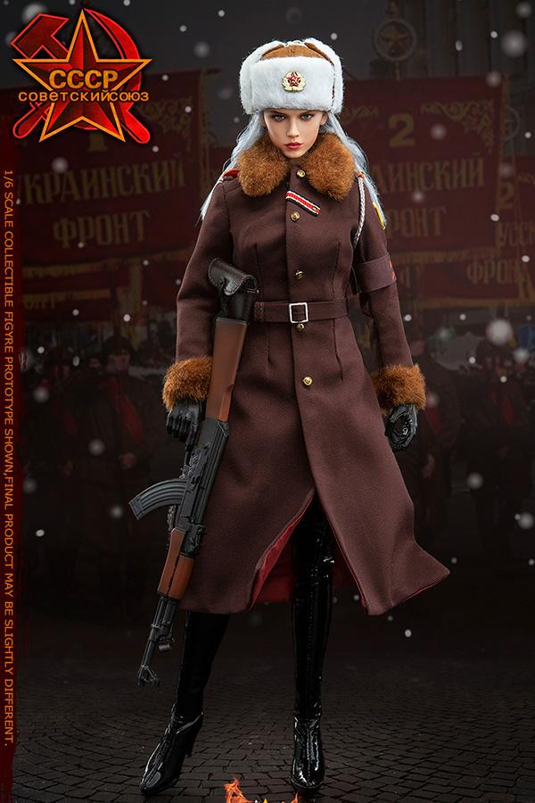 Flagset 新品:1/6兵人 红色预警苏联女军官 喀秋莎 (#FS73029)