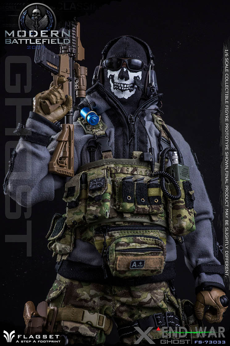 "FLAGSET 1/6末日战争系列 END WAR 死神小队—""X""幽灵不死(FS-73033#)"