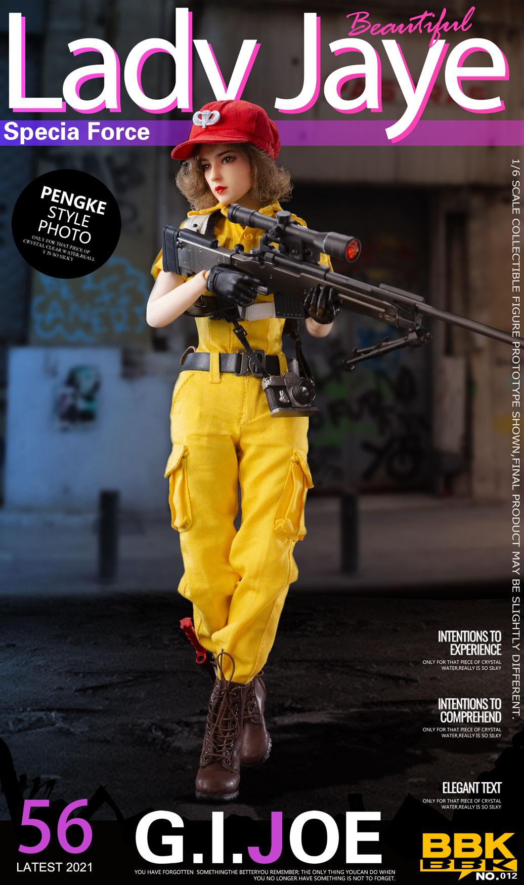 BBK新品:1/6 #BBK012 GIJOE 杰伊 女兵模型