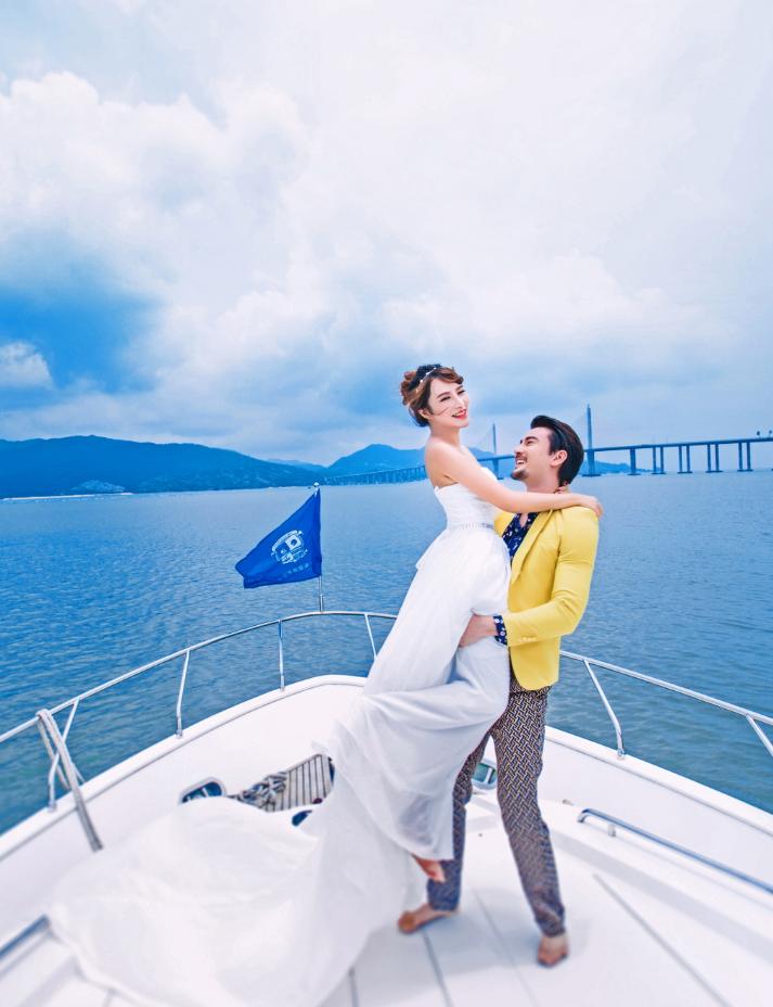 东莞婚纱摄影,游艇婚纱照