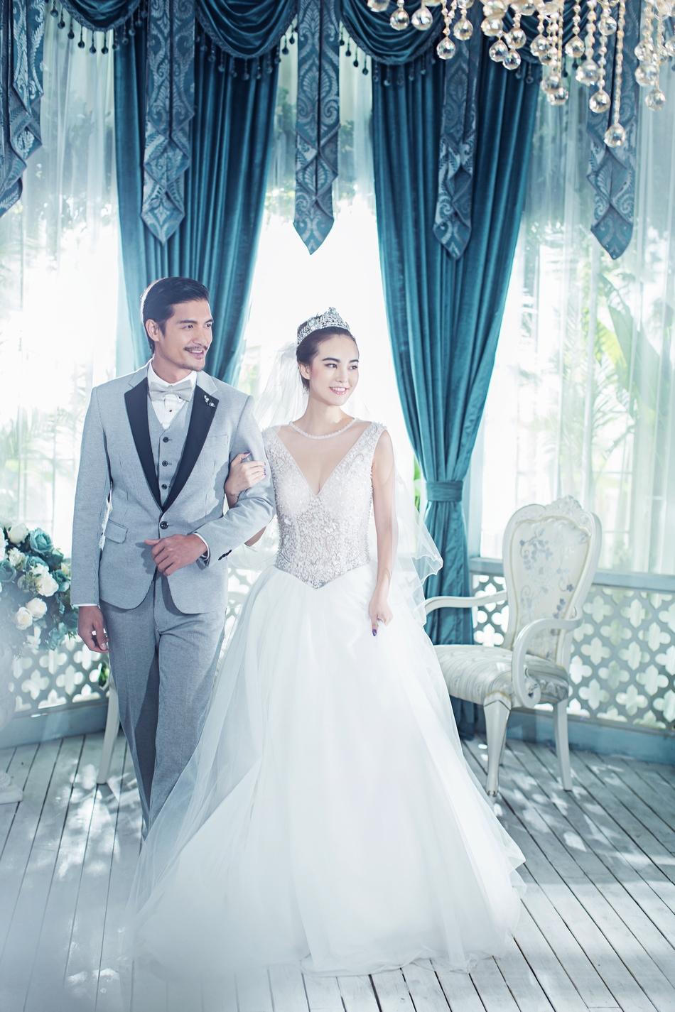 东莞婚纱照摄影,欧式婚纱照室内景