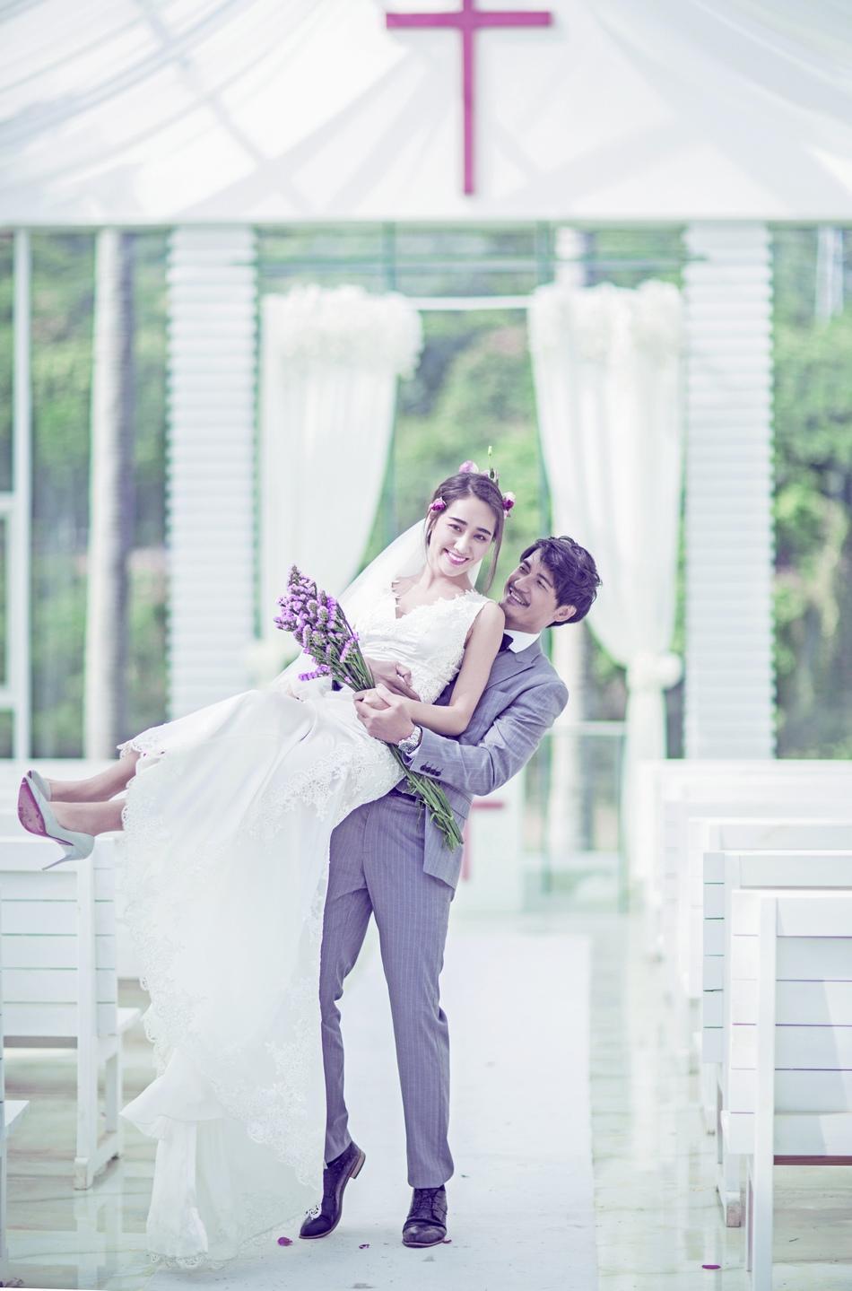 东莞好莱坞韩式唯美系列婚纱照,