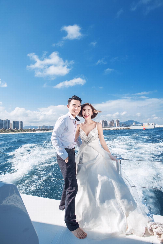东莞好莱坞婚纱摄影,浪漫海景