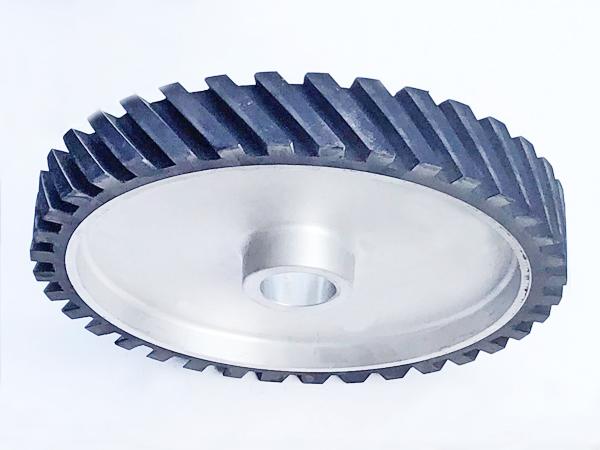 鋁芯橡膠輪350×50.50孔