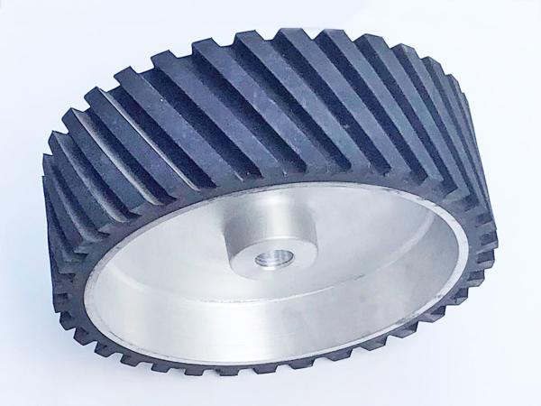 鋁芯橡膠輪300×100.25孔