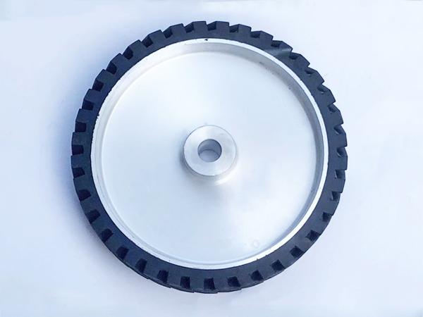 鋁芯橡膠輪300×50.25孔