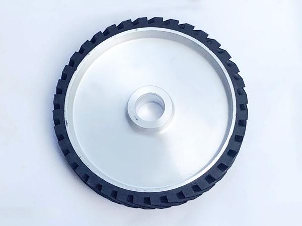 鋁芯橡膠輪300×50.45孔