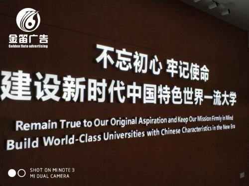 东莞市大学筹建办公室烤漆字、室内LED发光字制作