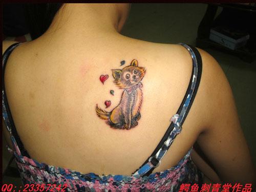 猫纹身小清新纹身