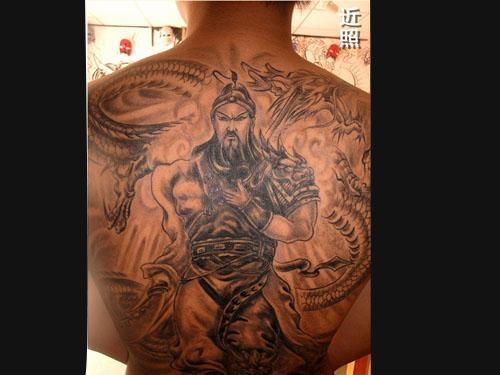 东莞纹身关公纹身图片