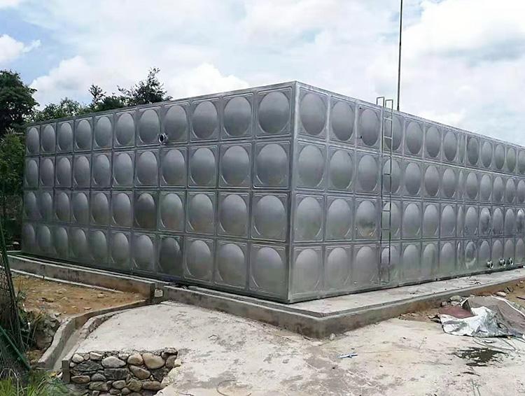 屋頂不銹鋼生活水箱按需定制_匯洋不銹鋼水箱_方形_304_樓頂
