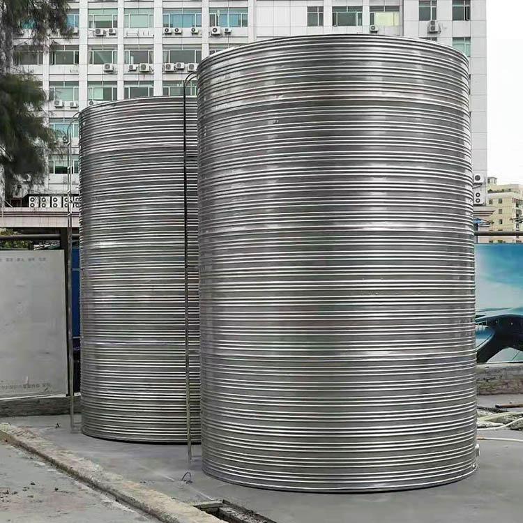 樓頂不銹鋼生活水箱訂制_匯洋不銹鋼水箱_拼裝式_地下室_樓頂