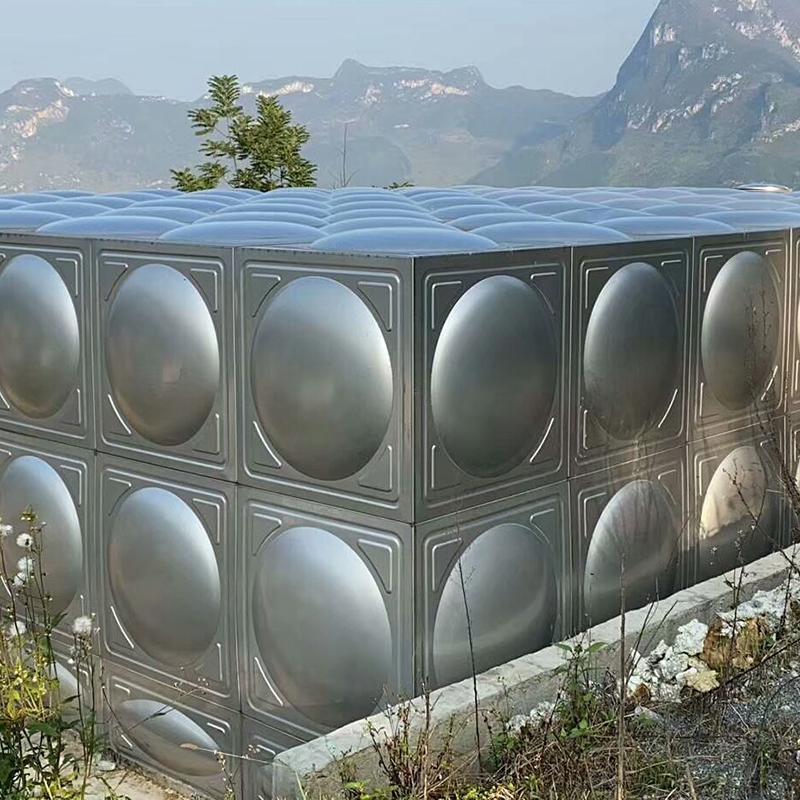 高位不銹鋼生活水箱非標定制_匯洋不銹鋼水箱_拼裝式_圓形_304