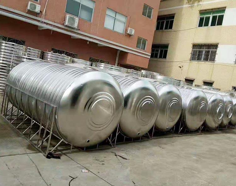 圓形_臥式不銹鋼生活水箱非標定制_匯洋不銹鋼水箱