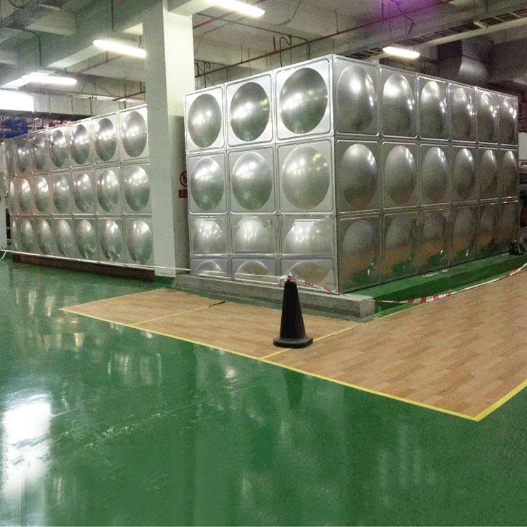 河南組合式不銹鋼生活水箱_匯洋不銹鋼水箱_工程專用_圓柱形