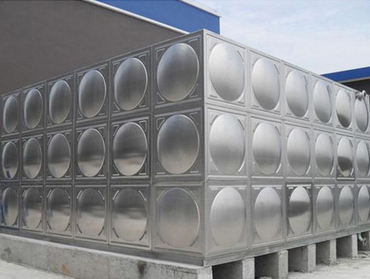 宁夏圆柱形不锈钢生活水箱_汇洋不锈钢水箱_泵房_大型_温泉_厂房