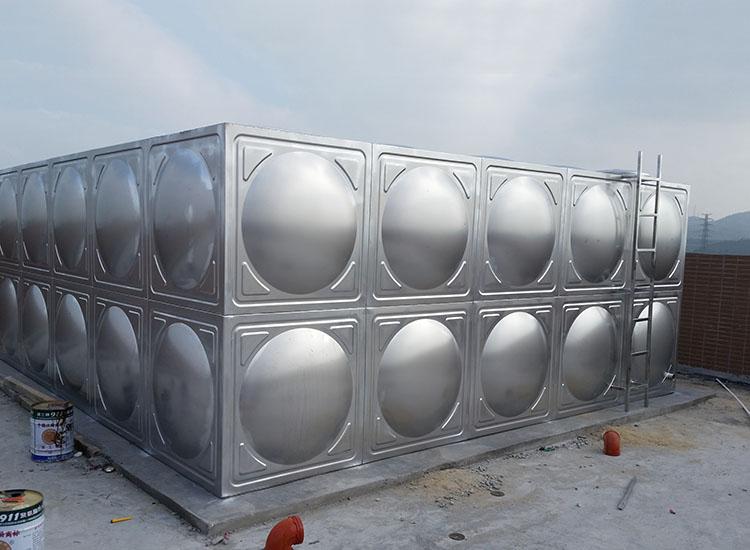山西拼装组合式不锈钢生活水箱_汇洋不锈钢水箱_方型_楼顶_卧式