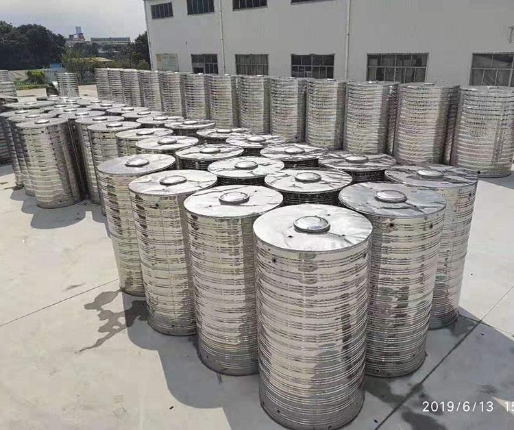 安徽立式不銹鋼水箱現貨供應_匯洋不銹鋼水箱_屋頂_圓柱形_方型