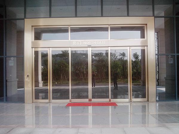 不锈钢电动玻璃门