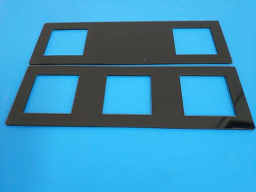 昆山視窗鋼化玻璃_智宏玻璃_灰色_化學_噴砂_指紋鎖_方形臺階