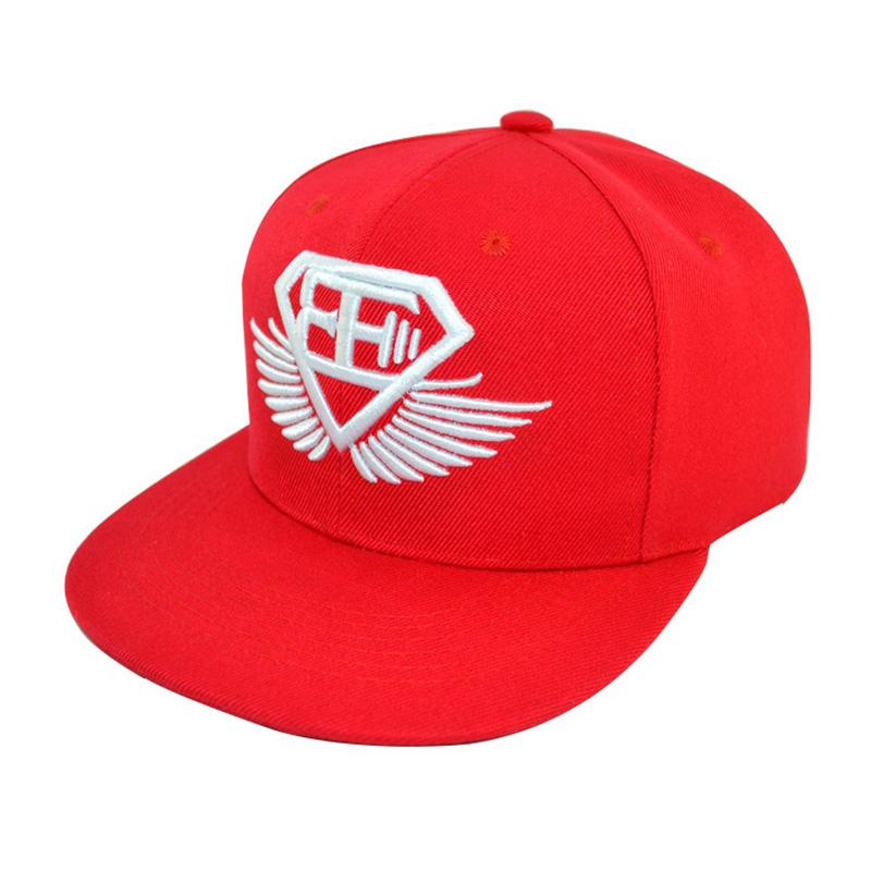 藍色嘻哈帽廠家_金森帽子_純色_紅色_平檐_男生_街舞_白色