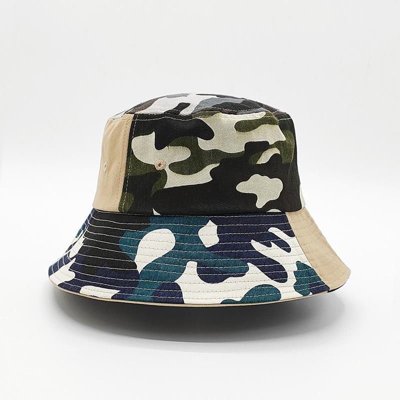 運動漁夫帽來樣加工_金森帽子_紅色_印花_防紫外線_折疊_純棉