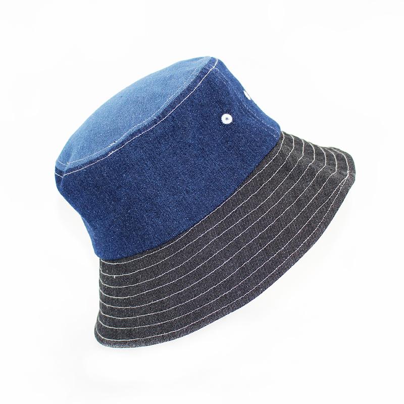 純棉漁夫帽公司_金森帽子_雙面_白色_純色_藍色_男士_戶外