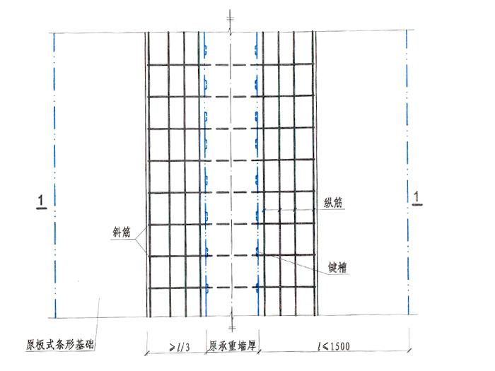 条形基础加液加固平面图