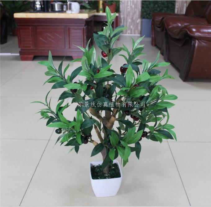 高仿真盆栽橄榄树-广州风景线仿真植物有限公司-企讯
