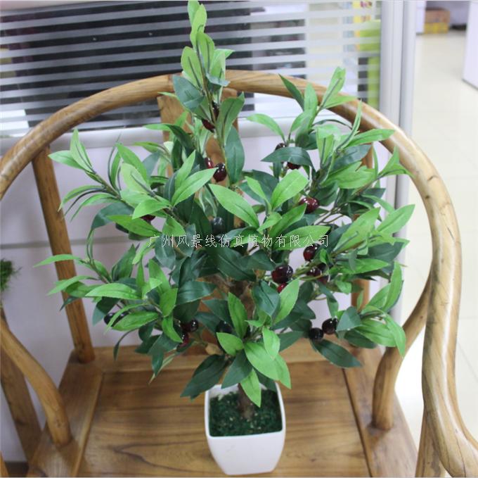 高仿真盆栽橄榄树