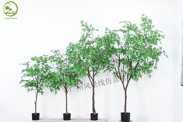 仿真綠楓樹盆栽