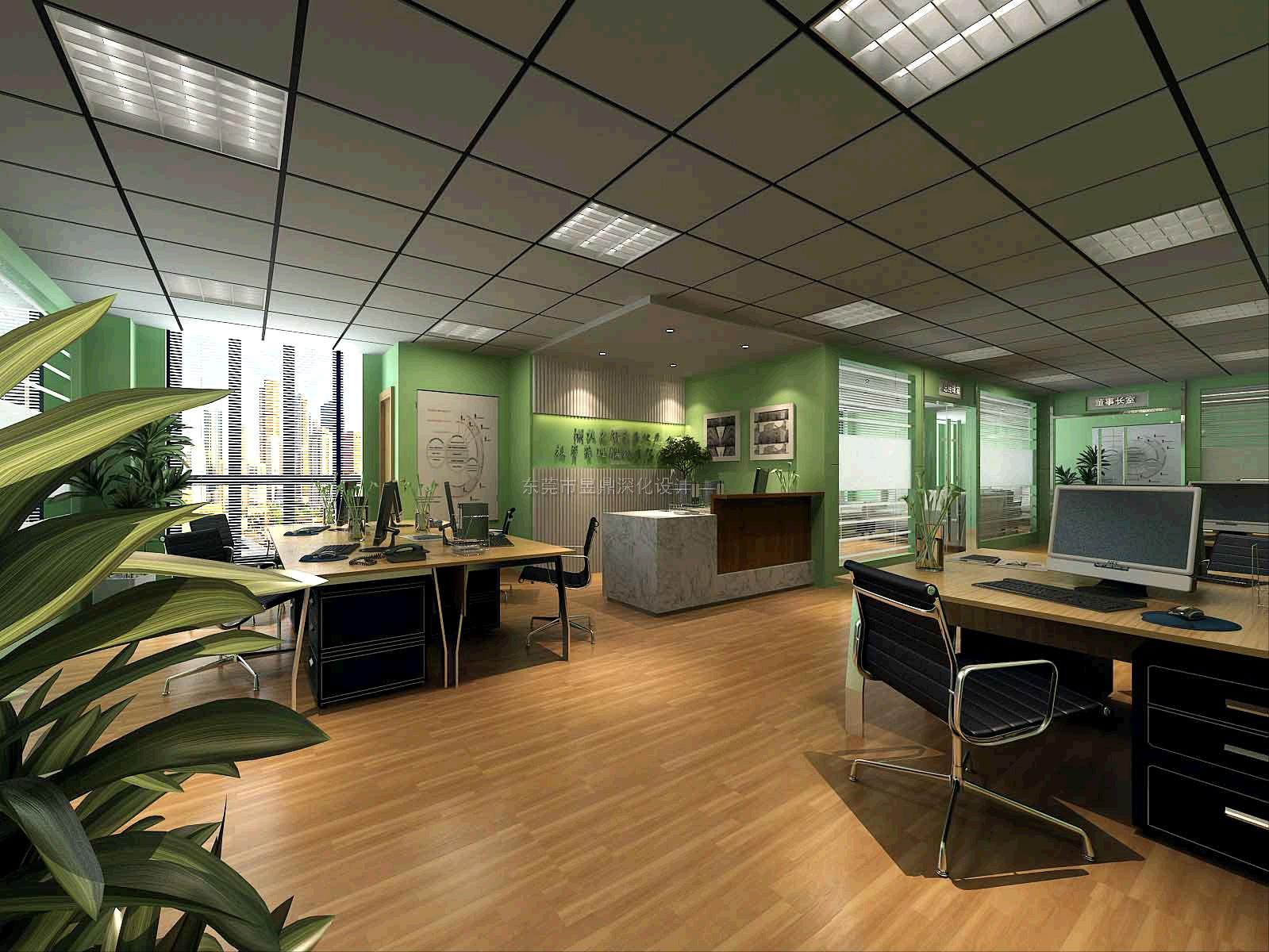 工装效果图,办公室效果图,室内效果图