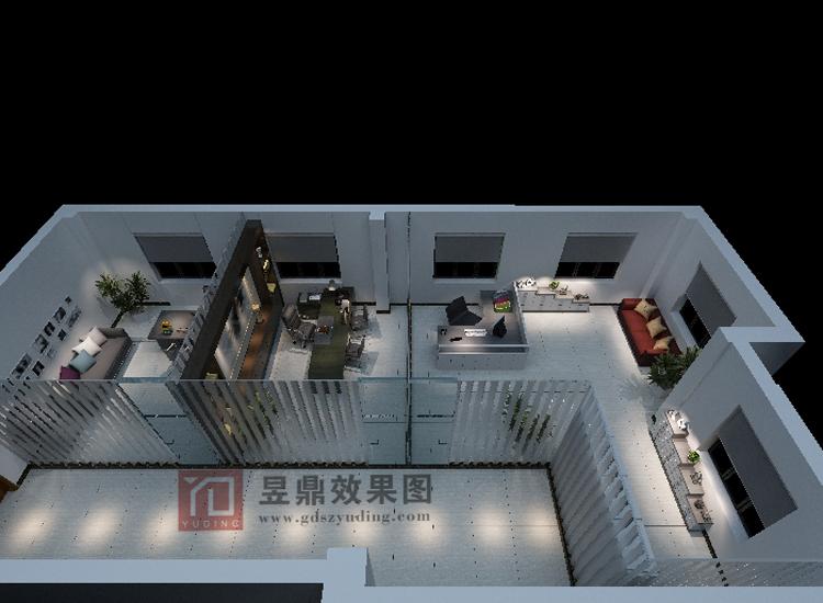 室内鸟瞰图-东莞市昱鼎深化设计-企讯网