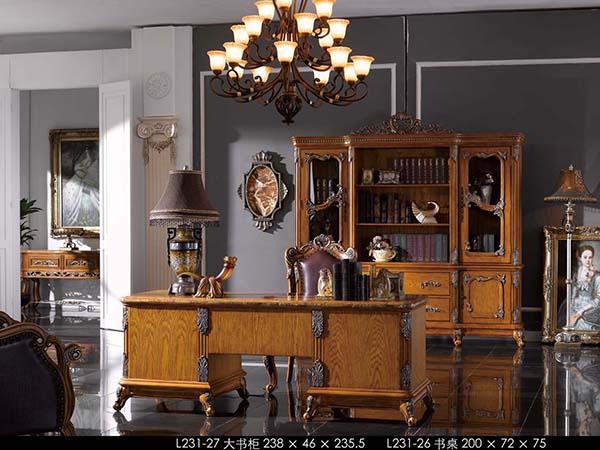 欧式古典风格书柜