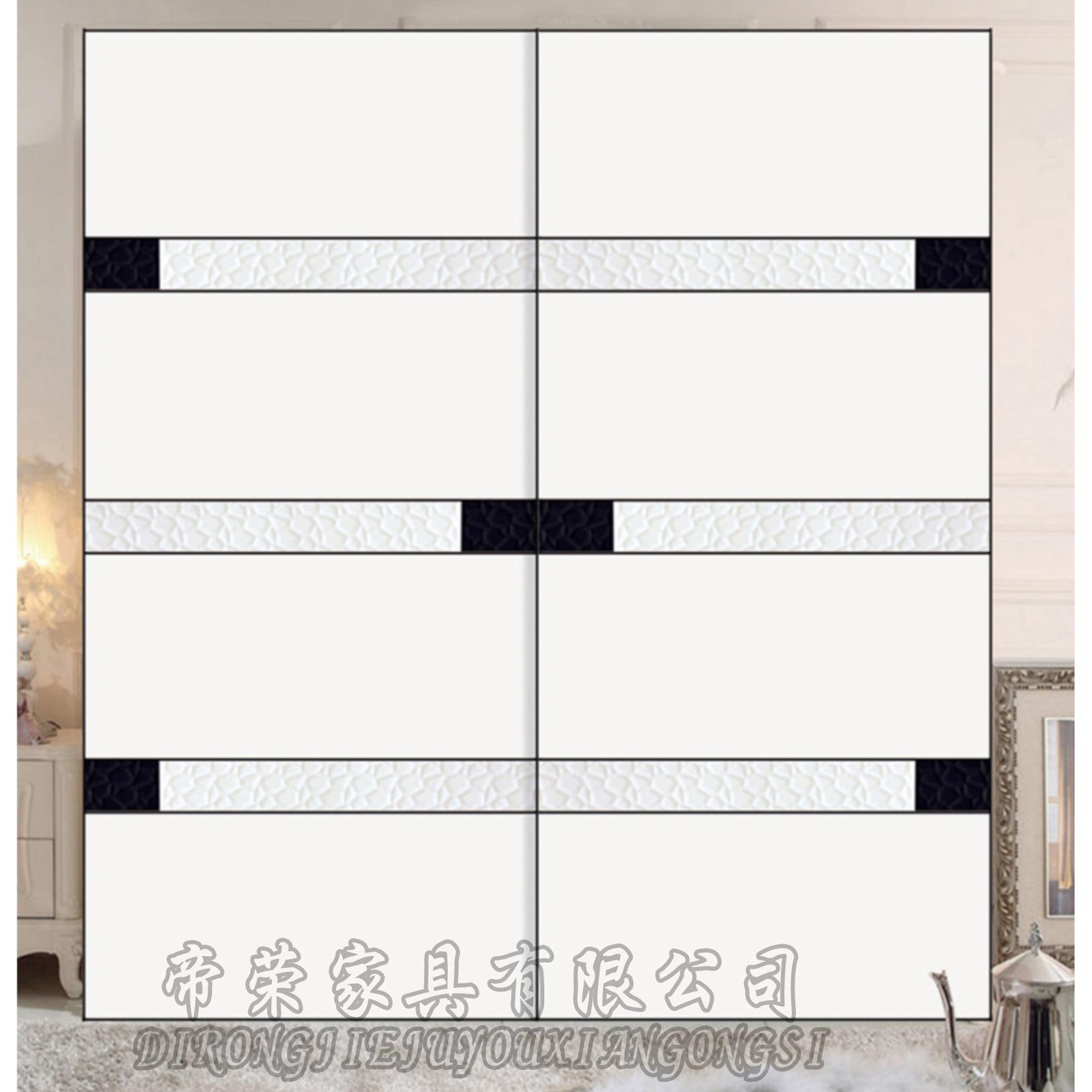现代简约衣柜门   可否定制:   是   颜色:   白色   型材:   半隐