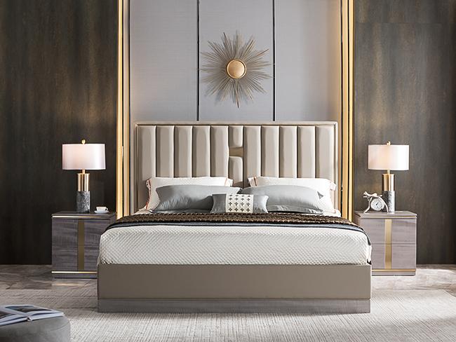 現代輕奢大床