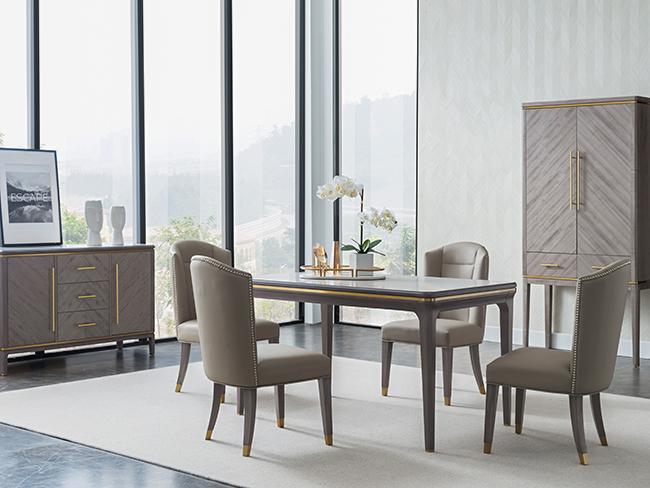 現代輕奢餐桌