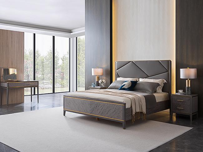現代輕奢風格木床
