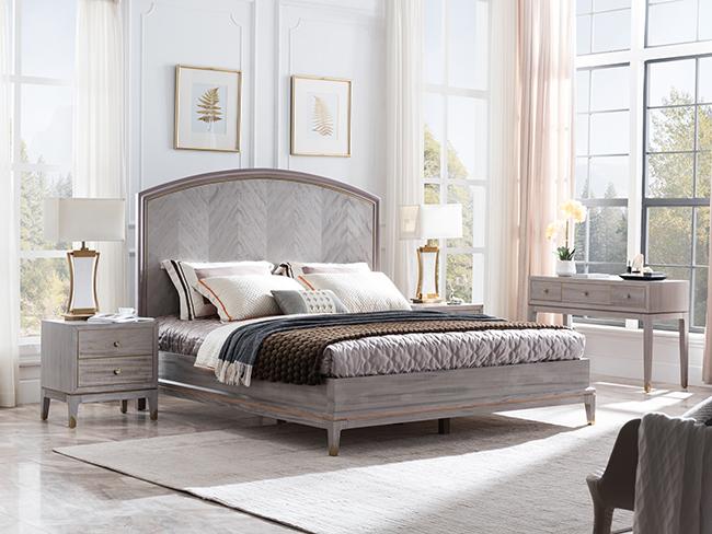現代輕奢木床