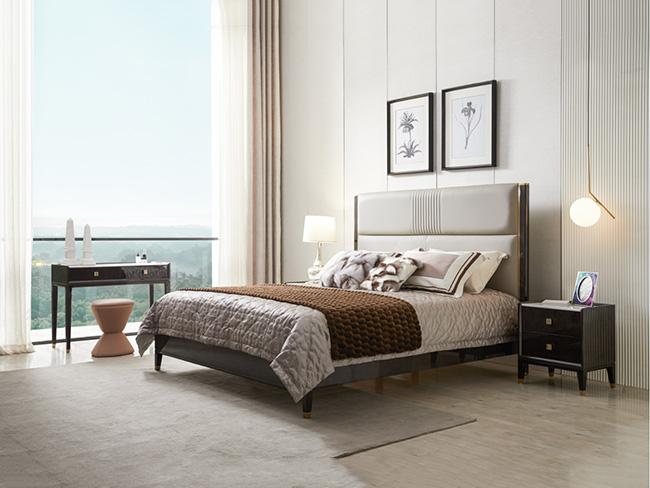 现代轻奢风格木床