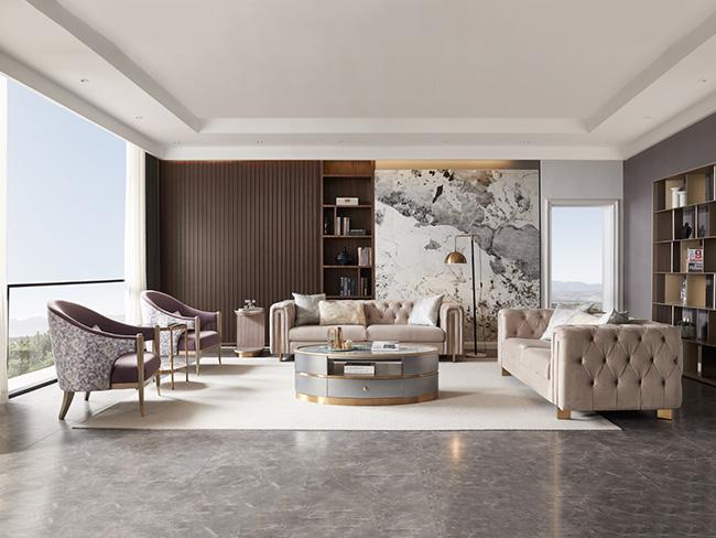 现代轻奢沙发-客厅柜