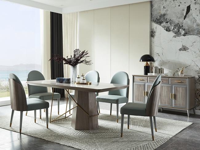 现代轻奢餐桌