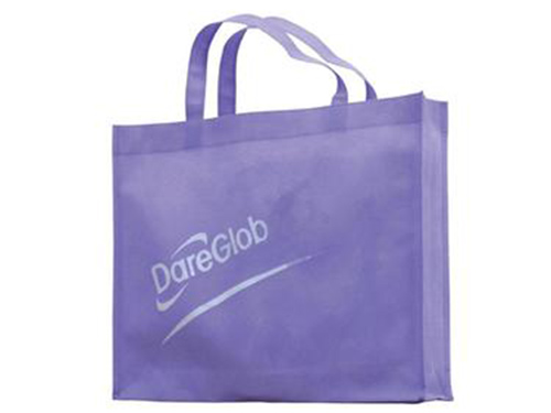 紫色有底有侧款袋