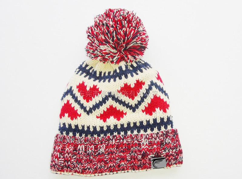 提花針織帽