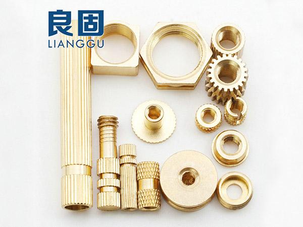 非標銅螺母加工定制 手機注塑斜紋銅螺母